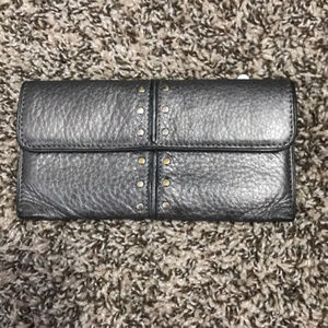 Michael Kors silver studded leather wallet
